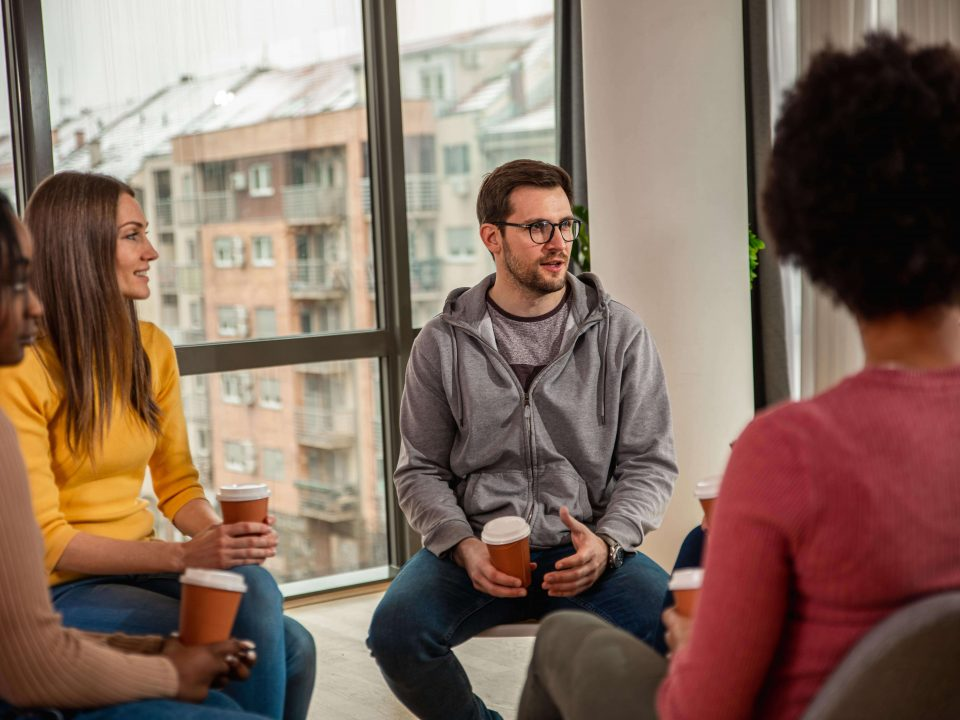 group therapy at outpatient drug rehab